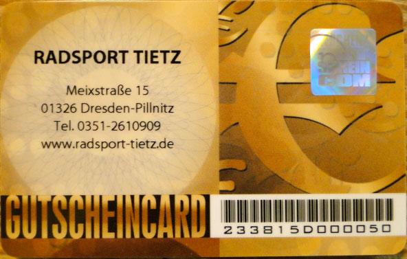 Gutscheincard »Euro Gold«